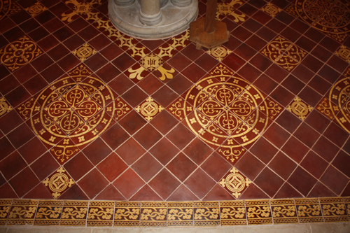 Cuckfield Church Floor Tile Mathematical and Architectural Restoration